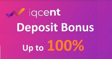 IQcent Para Yatırma Bonusu -% 100'e Kadar Bonus